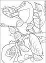 disegno di alice col brucaliffo
