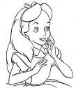Colora Alice in bianco e nero