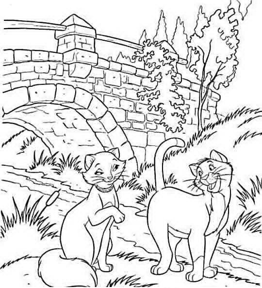 Aristogatti da colorare disegni gratis for Immagini da colorare aristogatti