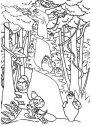 colora i barbapapa nella foresta