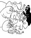 la famigli barbapapa con gli elefanti