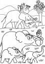 immagine di barbapapa con gli elefanti