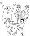 disegno dei barbapapa con carlotta e Francesco