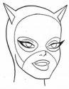 disegno del viso di Cat Woman