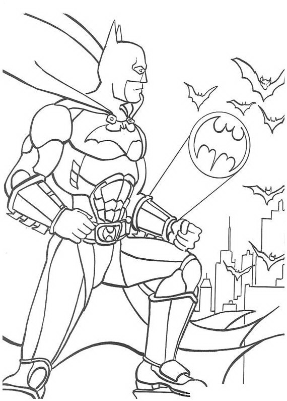 Batman da colorare disegni gratis - Coloriage batman ...