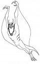 disegno di pinnajet o anche pinnaget alieno del cartone ben ten
