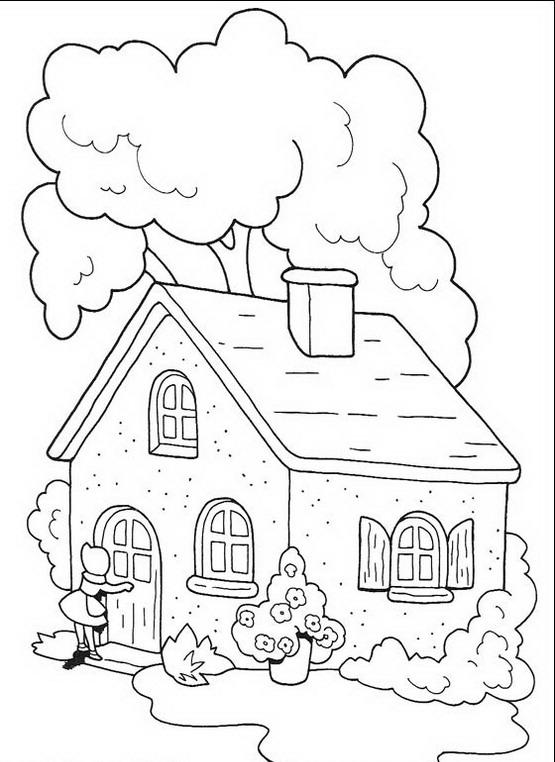 Cappuccetto rosso da colorare disegni gratis for Disegno della casa
