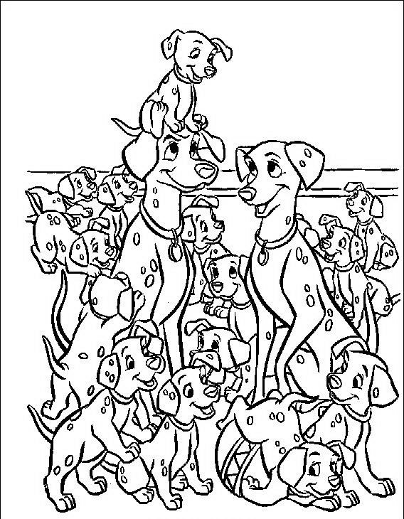 Carica dei 101 da colorare disegni gratis for La carica dei 101 disegni da colorare