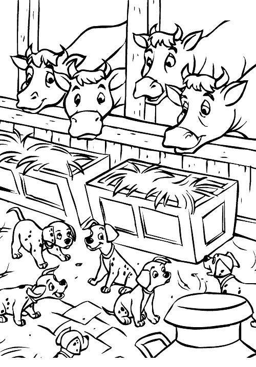 Carica dei 101 da colorare disegni gratis for Stampe di fattoria gratis