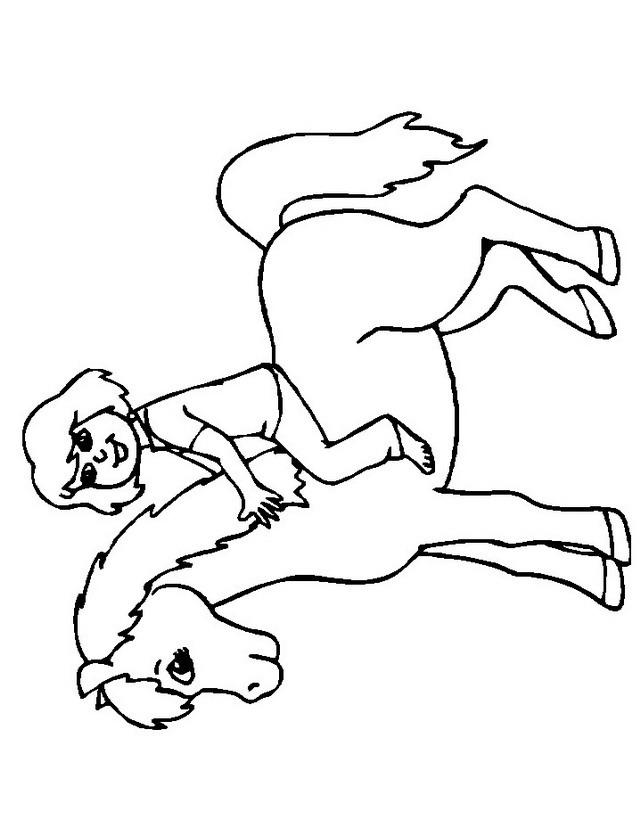 Cavalli da colorare disegni gratis for Cavalli da colorare per bambini