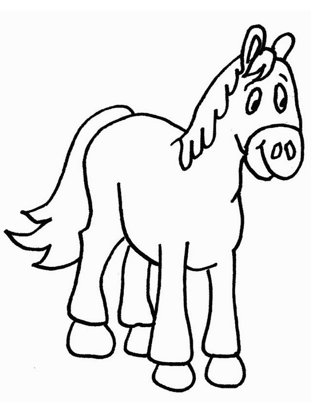 Cavalli da colorare disegni gratis for Disegno cavallo per bambini