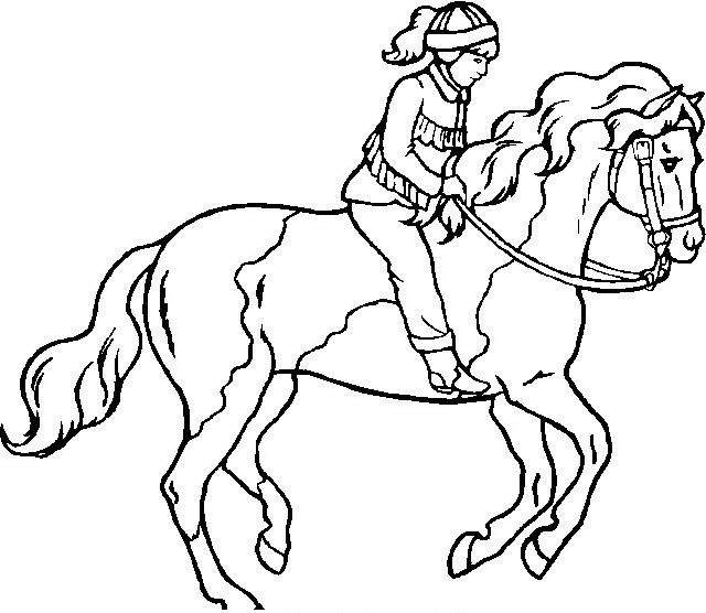 disegni da colorare cavaliere a cavallo