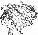 colora il drago dalle grandi ali
