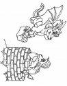 disegno in bianco e nero di draghi che conversano