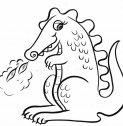 disegno di drago che sputa fiamme