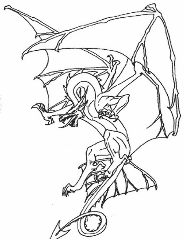wizard and dragon coloring pages - photo#24
