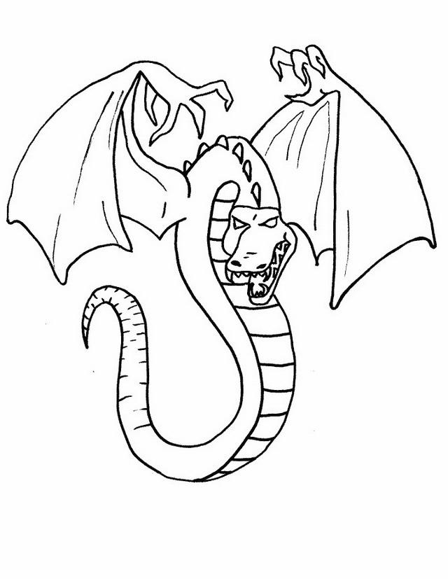 Draghi da colorare disegni gratis