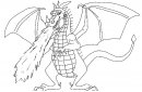 disegno di drago serpente sputafuoco