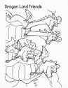 disegno di una famiglia di draghi