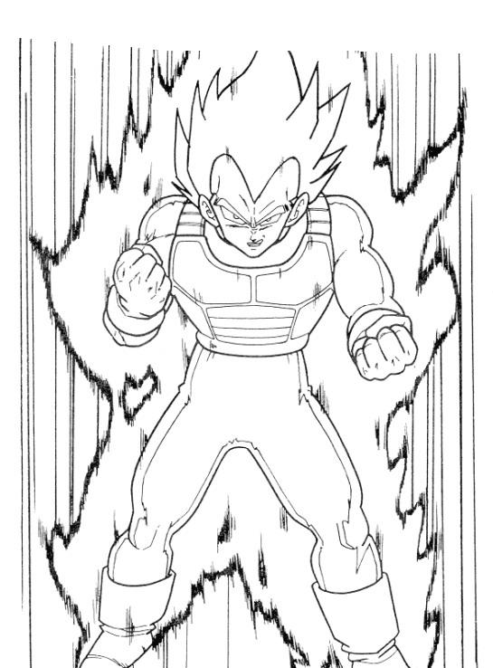 Dragon ball da colorare disegni gratis - Vegeta dessin ...