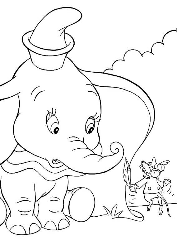 Dumbo Da Colorare Disegni Gratis