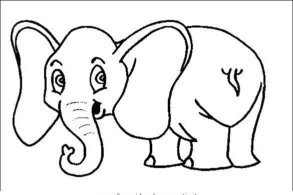 Elefante da colorare disegni gratis - Plantillas para dibujar en la pared ...