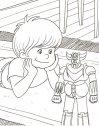 Actarus ed il suo robot Goldrake.