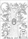 l'albero dei pipistrelli da colorare