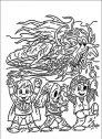 disegno di bambini e fantasmi