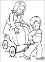 disegno di bambino con la zucca