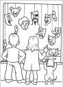 disegno di bambini e maschere