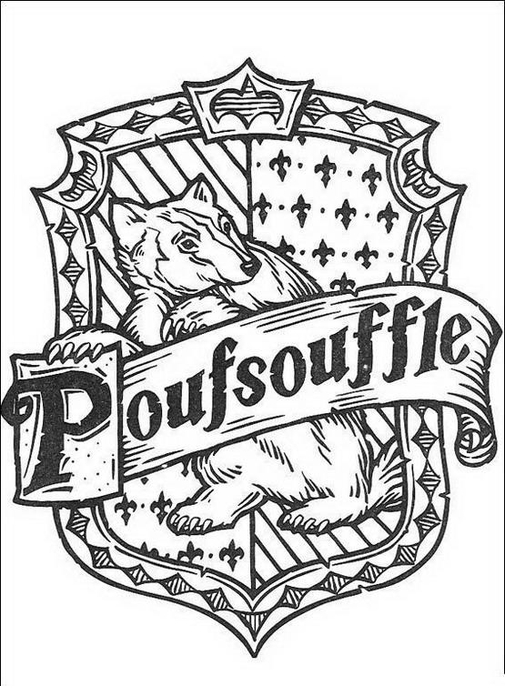 Harry potter da colorare disegni gratis - Blason poufsouffle ...