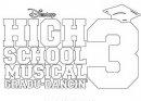high school musical disegno in bianco e nero.