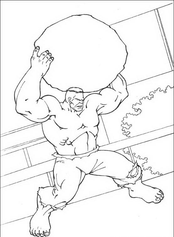 disegni da colorare hulk da stampare