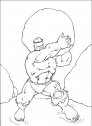 disegno di hulk che lancia un sasso