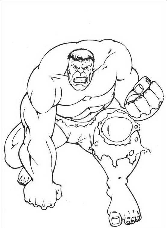 Hulk Da Colorare Disegni Gratis