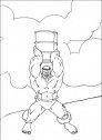 disegno di hulk che lancia un bidone