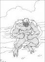 disegno in bianco e nero di hulk