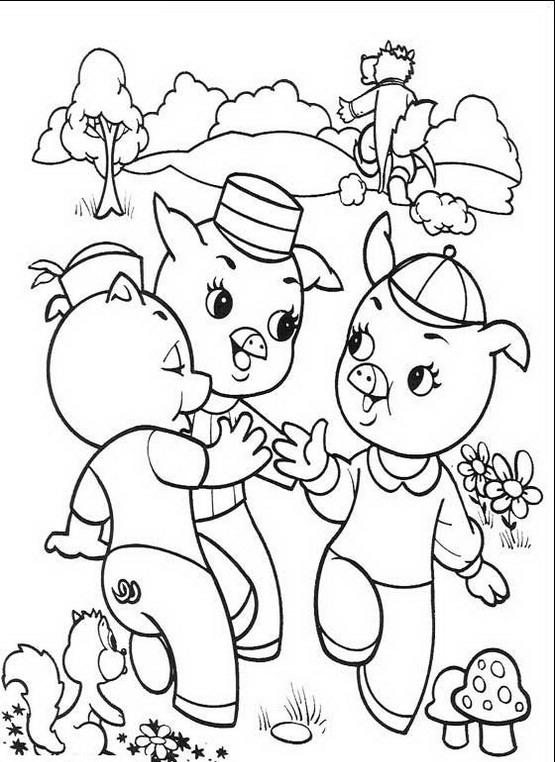 I tre porcellini da colorare disegni gratis for Disegni di lupi da colorare