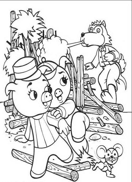 I tre porcellini da colorare disegni gratis - Lupo mannaro immagini da colorare ...