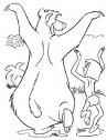 disegno di mowgli  e baloo
