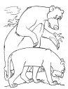 disegno di baloo e Bagheera