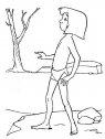 immagine in bianco e nero di mowgli