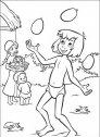 disegno di mowgli che saluta i suoi amici uomini