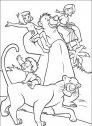 immagine di Mowgli con i suoi amici della giungla