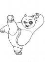 calcio di kungfupanda disegno da stampare in bianco e nero