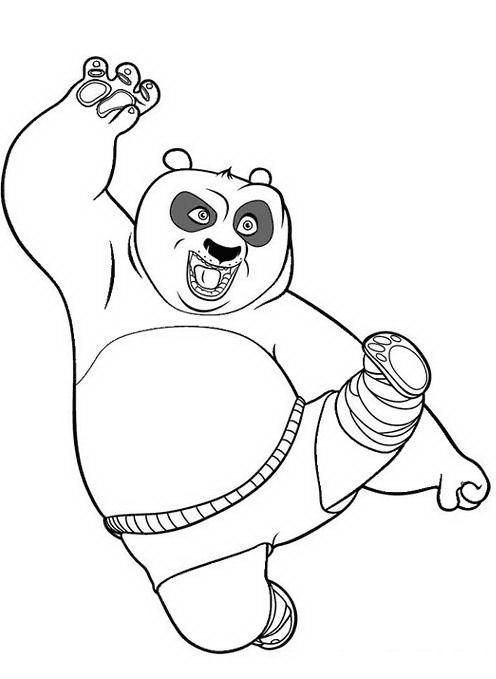 Disegni da colorare e stampare di kung fu panda 2
