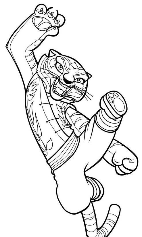 Coloriamo kung fu panda matitecolorate for Immagini tigre da colorare