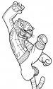disegno di Tigre da kung fu panda