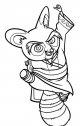 il maestro di PO disegno  dal cartone kung fu panda